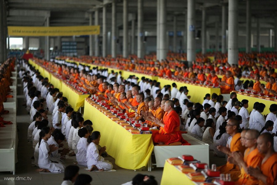 Offering Alms to Temples All Over Thailand