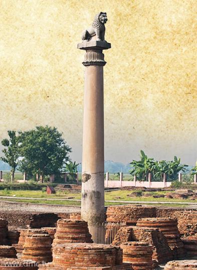 เสาศิลาพระเจ้าอโศกมหาราช โกลฮูอา (Kolhua Buddha Stupa) สถานที่ปลงอายุสังขาร