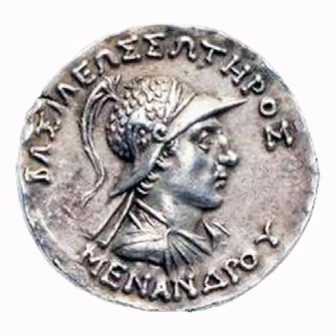 พระเจ้ามิลินท์ (Menander) ชื่อในภาษากรีกเมนันดรอส (Menandros) ครองราชย์ปลายพุทธศตวรรษที่ ๔