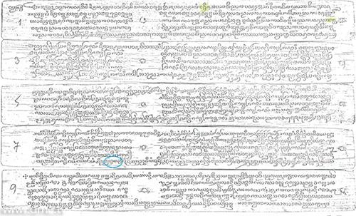 คัมภีร์ธัมมกาย อักษรธรรมล้านนา ฉบับวัดป่าสักน้อย เชียงใหม่ ที่มา : สถาบันวิจัยสังคม มหาวิทยาลัยเชียงใหม่