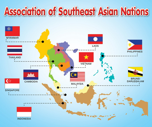 ... Map as well South And Southeast Asia Map. on asean country map maps of