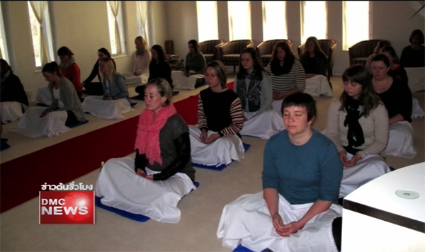 Wat Phra Dhammakaya Norway taught meditation to a group from the University of Buskerud and Vestfold