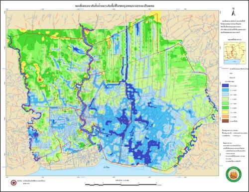 แผนที่แสดงความสูง ทางน้ำ
